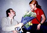 louis gives flowers, japan 1996